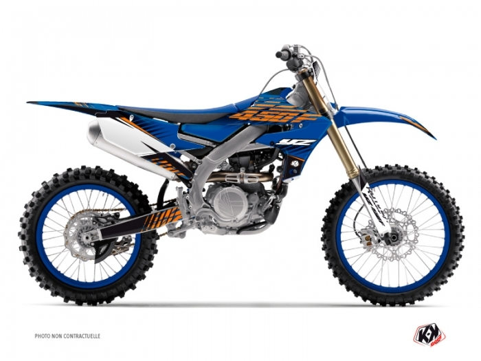 Kit Déco Moto Cross Flow Yamaha 450 YZF Orange