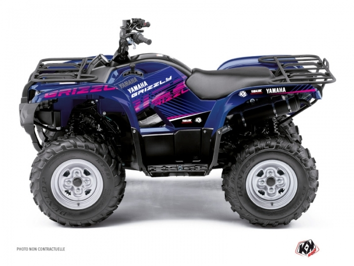 Kit d co quad flow yamaha 550 700 grizzly rose kutvek for Yamaha grizzly 800
