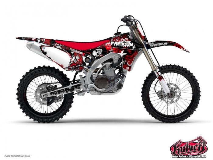 Yamaha 250 YZF Dirt Bike Freegun Graphic Kit Red