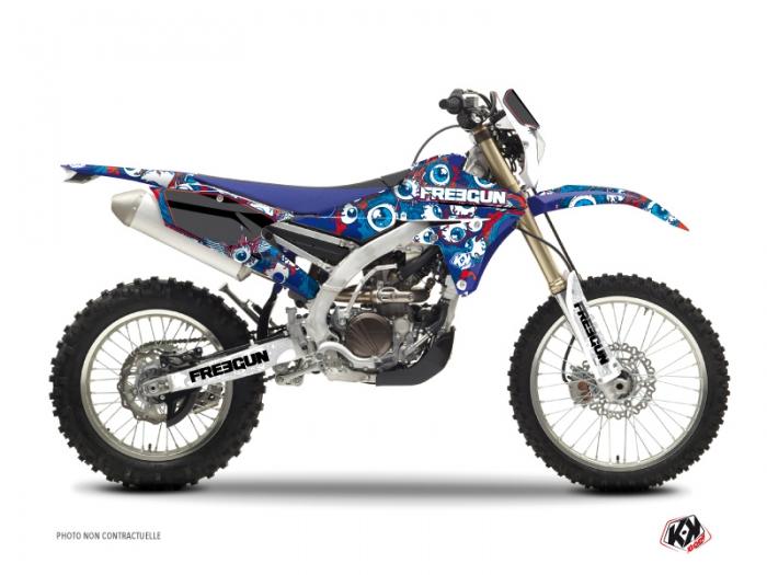 Kit Déco Moto Cross Freegun Eyed Yamaha 250 WRF Rouge