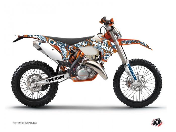 Kit Déco Moto Cross Freegun Eyed KTM EXC,EXCF Orange