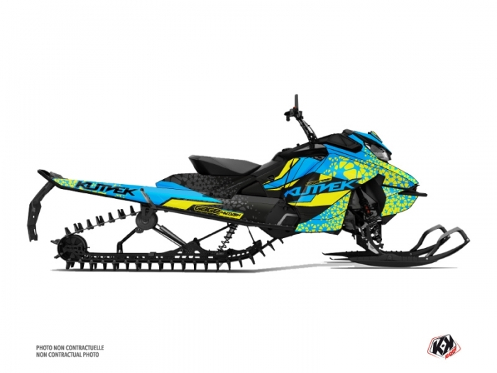 Skidoo Gen 4 Snowmobile Gage Graphic Kit Blue Yellow