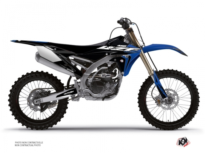 Yamaha 450 YZF Dirt Bike Halftone Graphic Kit Black Blue