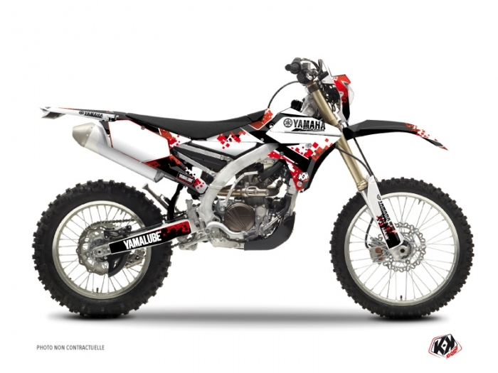 Yamaha 450 WRF Dirt Bike Hangtown Graphic Kit Red