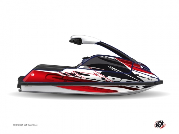 Yamaha Superjet Jet-Ski Mission Graphic Kit Red