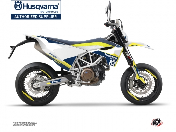 Kit Déco Moto Cross Orbit Husqvarna 701 Supermoto Blanc
