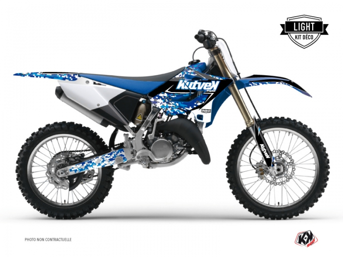 Yamaha 125 YZ Dirt Bike Predator Graphic Kit Blue LIGHT