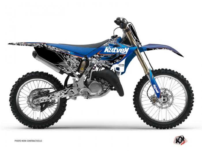 Kit Déco Moto Cross Predator Yamaha 125 YZ Noir Bleu