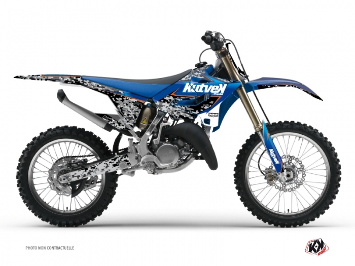 Yamaha 250 YZ Dirt Bike Predator Graphic Kit Black Blue