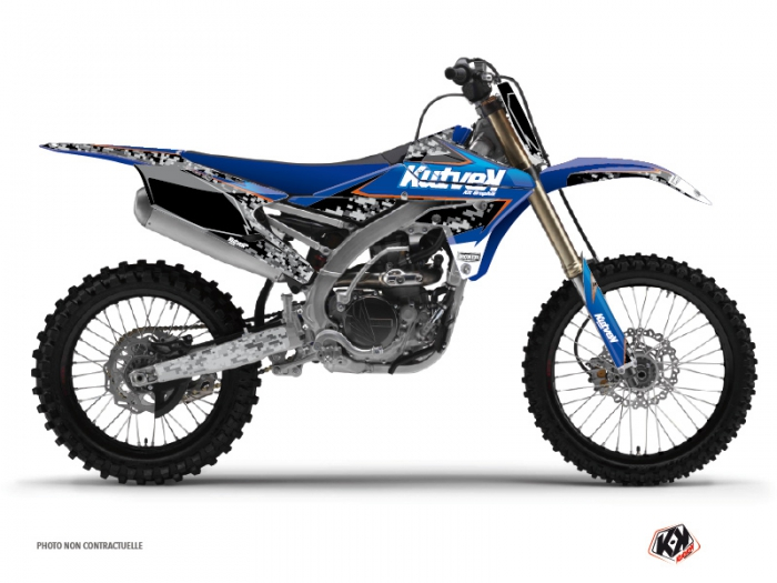 Yamaha 250 YZF Dirt Bike Predator Graphic Kit Black Blue