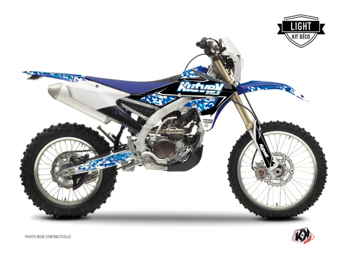 Kit Déco Moto Cross Predator Yamaha 450 WRF Bleu LIGHT