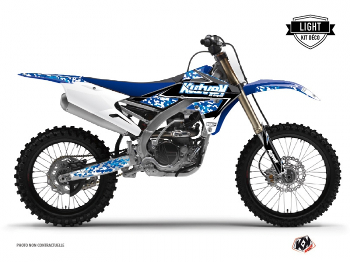Yamaha 450 YZF Dirt Bike Predator Graphic Kit Blue LIGHT