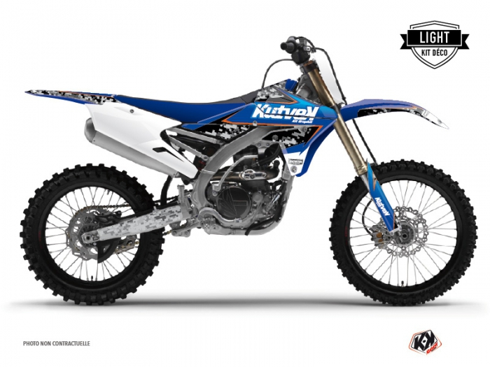 Yamaha 450 YZF Dirt Bike Predator Graphic Kit Black Blue LIGHT
