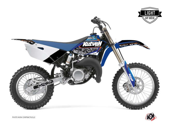 Kit Déco Moto Cross Predator Yamaha 85 YZ Noir Bleu LIGHT