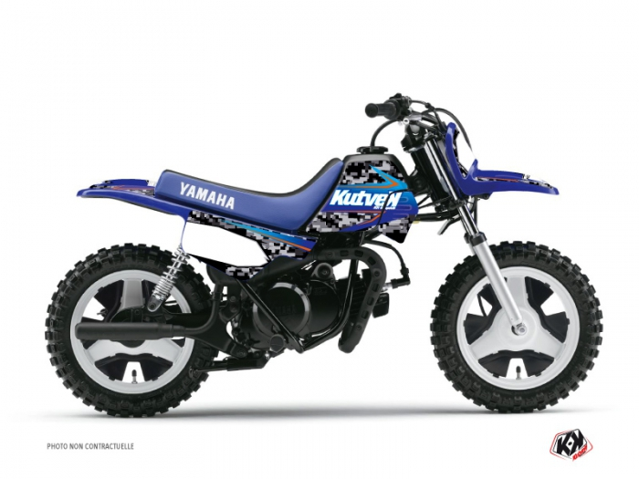 kit d co moto cross predator yamaha pw 50 noir bleu kutvek kit graphik. Black Bedroom Furniture Sets. Home Design Ideas