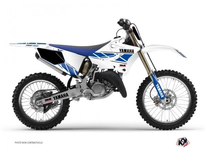 kit d co moto cross replica yamaha 125 yz blanc bleu kutvek kit graphik. Black Bedroom Furniture Sets. Home Design Ideas