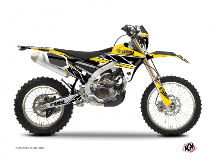 Yamaha 250 WRF Dirt Bike Replica Graphic Kit Yellow