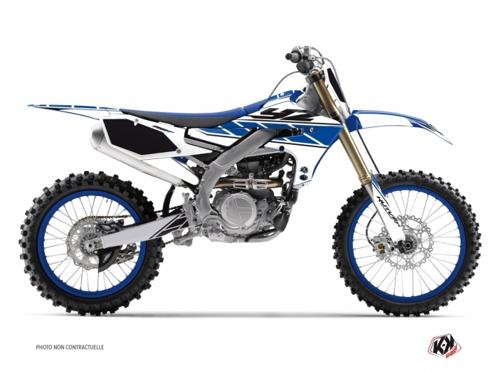 Kit Déco Moto Cross Replica Yamaha 250 YZF Blanc Bleu
