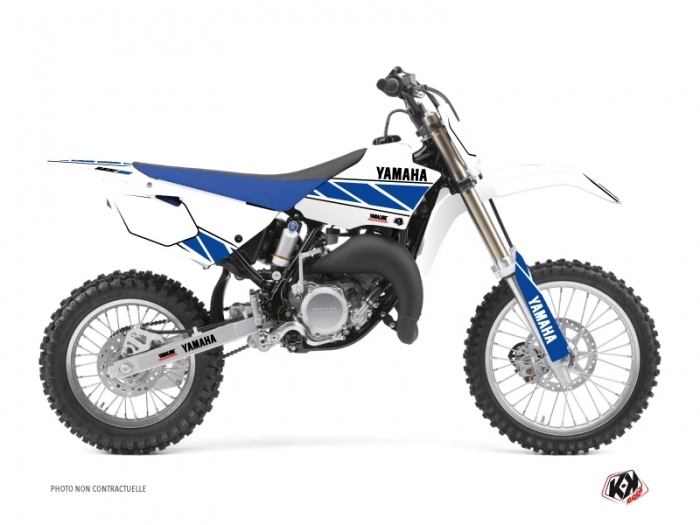 kit d co moto cross replica yamaha 85 yz blanc bleu. Black Bedroom Furniture Sets. Home Design Ideas