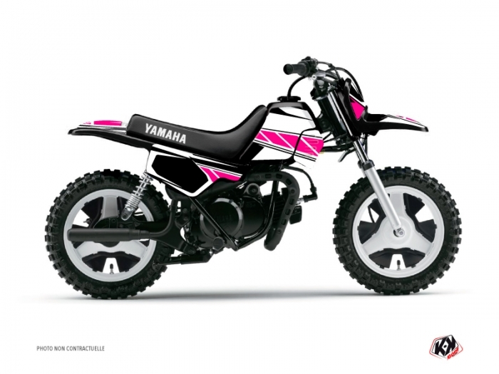 kit d co moto cross replica yamaha pw 50 rose kutvek kit graphik. Black Bedroom Furniture Sets. Home Design Ideas