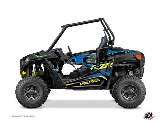 Polaris RZR 900 UTV Squad Graphic Kit Blue Yellow