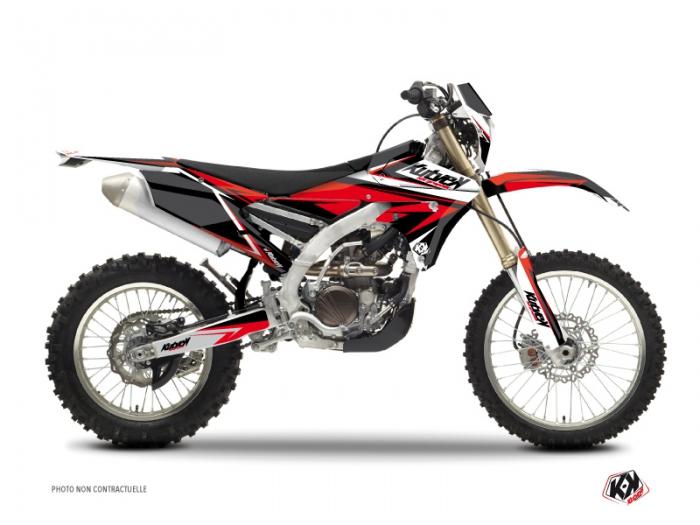 Kit Déco Moto Cross Stage Yamaha 250 WRF Noir Rouge