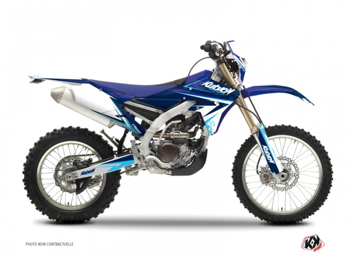 Kit Déco Moto Cross Stage Yamaha 450 WRF Bleu