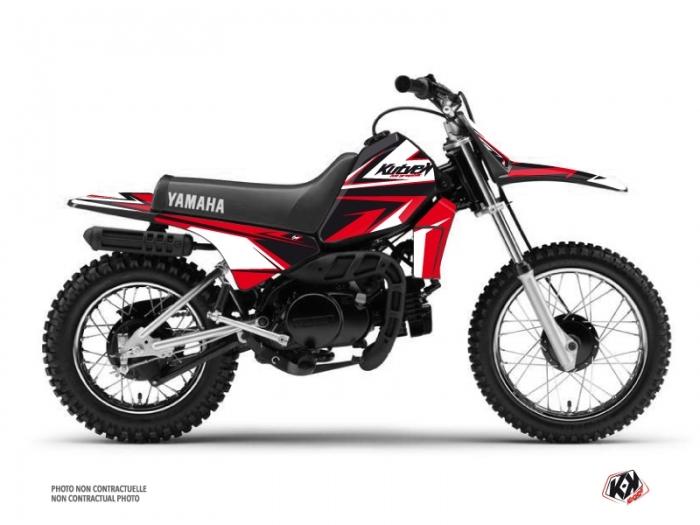 kit d co moto cross stage yamaha pw 80 noir rouge kutvek kit graphik. Black Bedroom Furniture Sets. Home Design Ideas