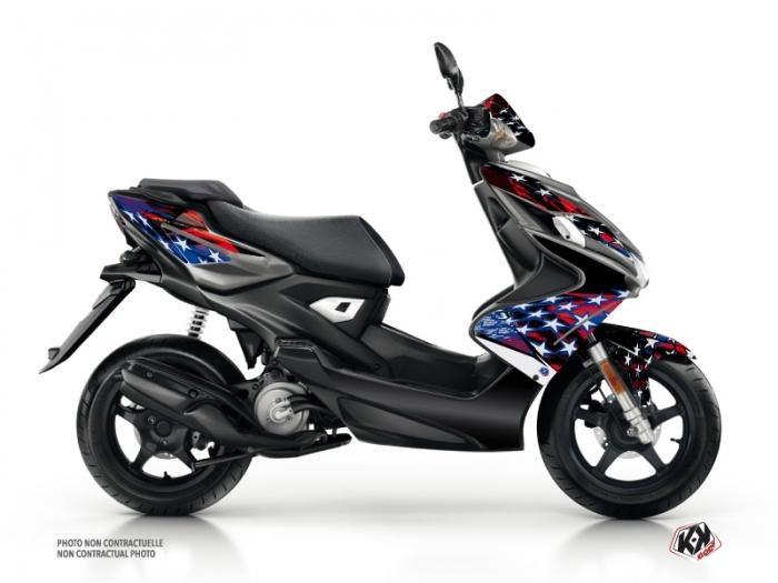 Yamaha Aerox Scooter Stars Graphic Kit Blue