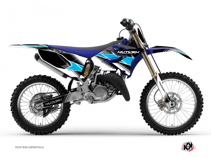 Kit Déco Moto Cross Stripe Yamaha 125 YZ Noir