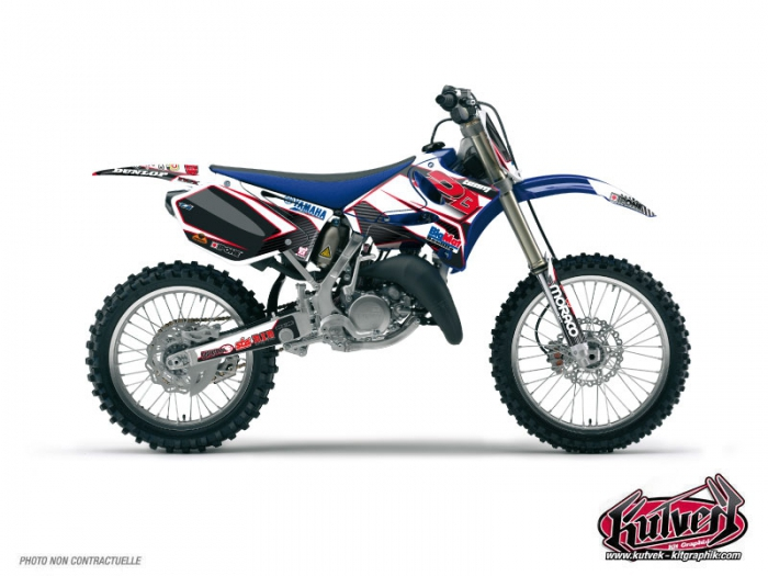 Yamaha 250 YZ Dirt Bike Replica Team 2b Graphic Kit 2010