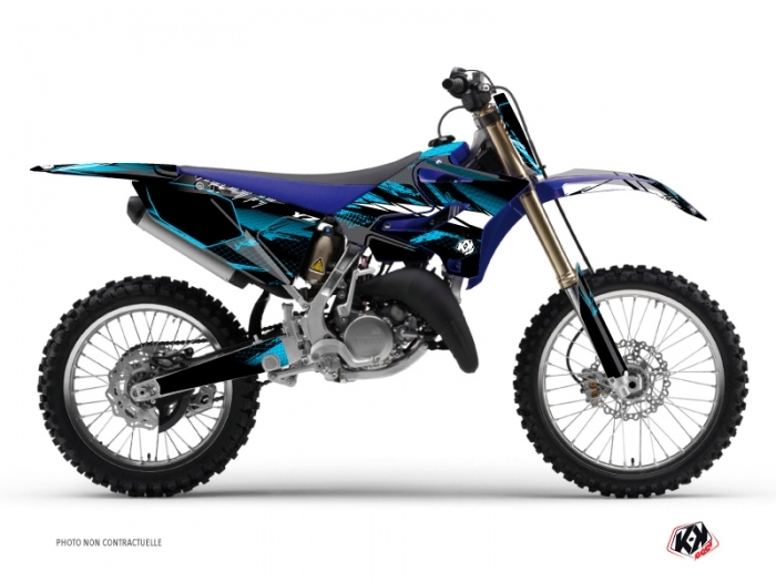 Kit Déco Moto Cross Techno Yamaha 125 YZ Bleu