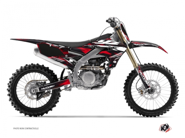 Yamaha 250 YZF Dirt Bike Techno Graphic Kit Red