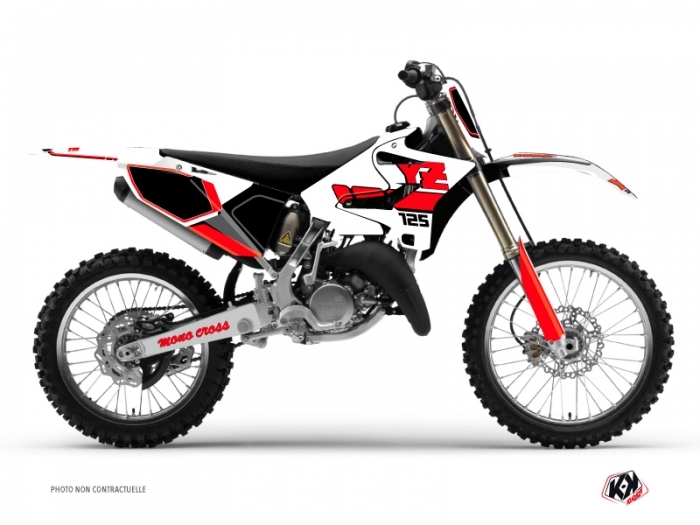 Yamaha 125 YZ Dirt Bike Vintage Graphic Kit Red