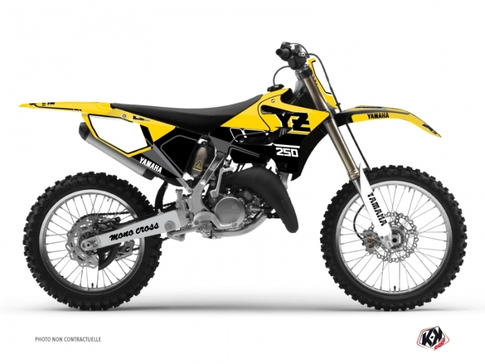 Yamaha 250 YZ Dirt Bike Vintage Graphic Kit Yellow