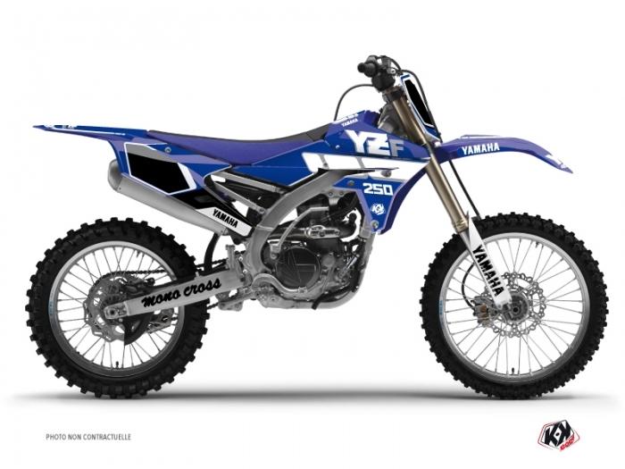Yamaha 250 YZF Dirt Bike Vintage Graphic Kit Blue