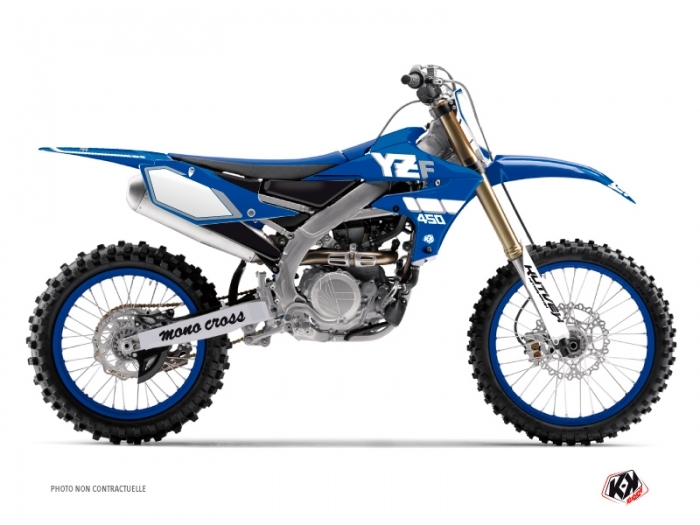 Yamaha 450 YZF Dirt Bike Vintage Graphic Kit Blue