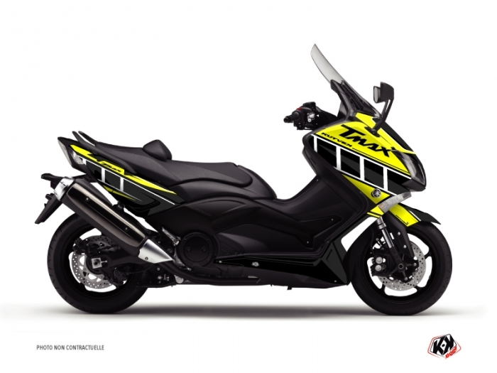 Yamaha TMAX 500 Maxiscooter Vintage Graphic Kit Yellow