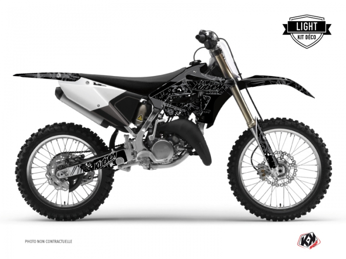 Kit Déco Moto Cross Zombies Dark Yamaha 125 YZ Noir LIGHT
