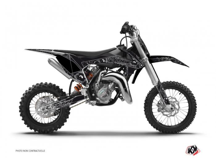 kit d 233 co moto cross zombies ktm 50 sx noir kutvek kit graphik