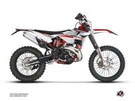 Beta 125 RR 2-stroke Dirt Bike FIRENZE Graphic Kit White Red Black