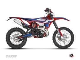 Beta 125 RR 2-stroke Dirt Bike FIRENZE Graphic Kit Red Blue