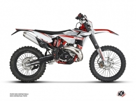 Kit Déco Moto Cross FIRENZE Beta RR 4T 350 Blanc Rouge Noir