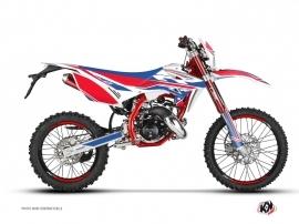 Beta RR 50 Enduro 50cc FIRENZE Graphic Kit White Red Blue
