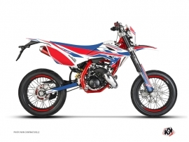 Beta RR 50 Motard 50cc FIRENZE Graphic Kit White Red Blue