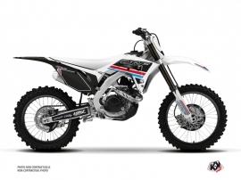 Honda 250 CRF Dirt Bike First Graphic Kit White