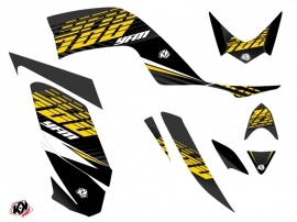 Yamaha 700 Raptor ATV Flow Graphic Kit Yellow 60th Anniversary