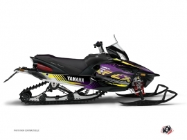 Kit Déco Motoneige Flow Yamaha Apex Violet