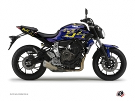 Kit Déco Moto Flow Yamaha MT 07 Jaune