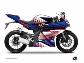 Yamaha R125 Street Bike Flow Graphic Kit Red